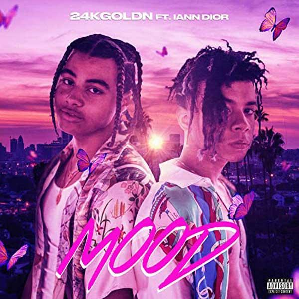 copertina brano mood by 24kgoldn