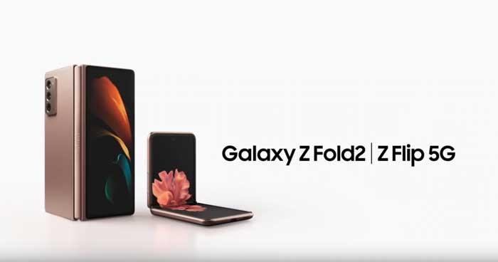 pubblicità Galaxy Z Fold2 Z Flip 5G 2021