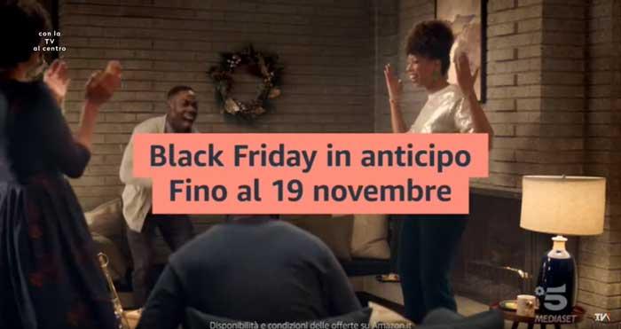 pubblicità amazon black friday in anticipo fino al 19 novembre 2020