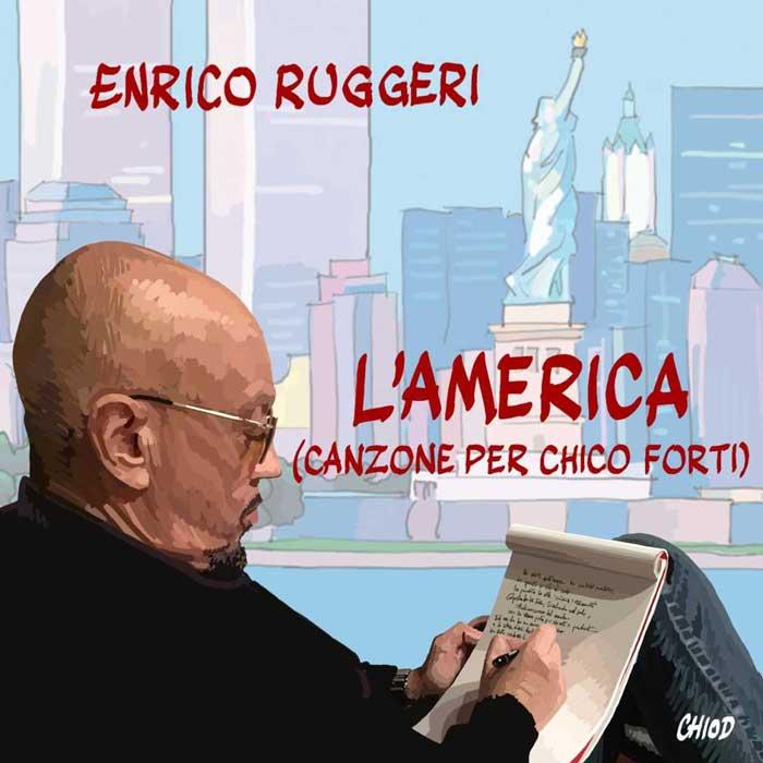 L'AMERICA (Canzone per Chico Forti) copertina brano enrico ruggeri