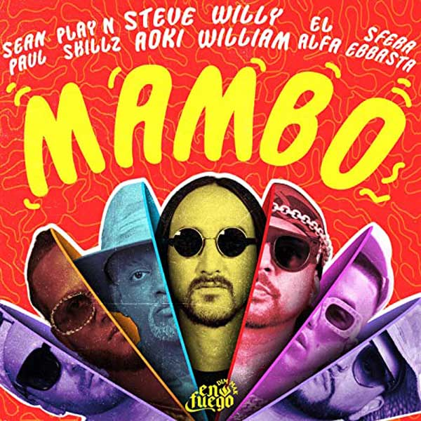 copertina brano mambo by steve aoki, sfera ebbasta & co