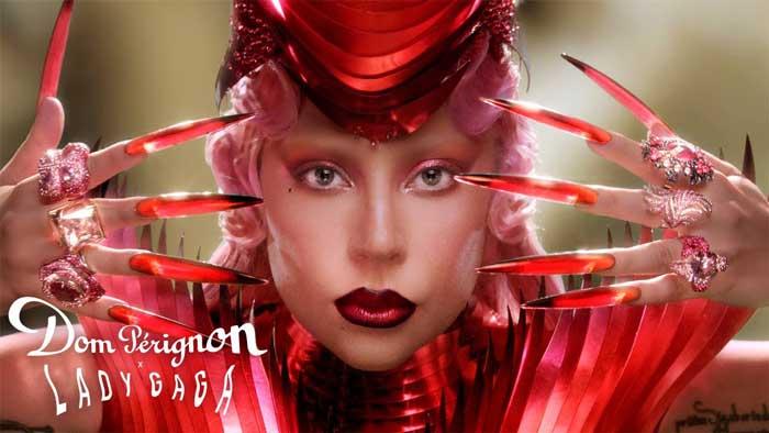 pubblicità Dom Perignon con Lady Gaga
