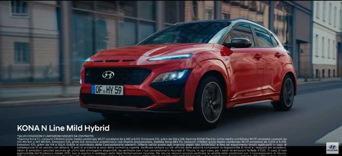 pubblicità Hyundai Kona 2021