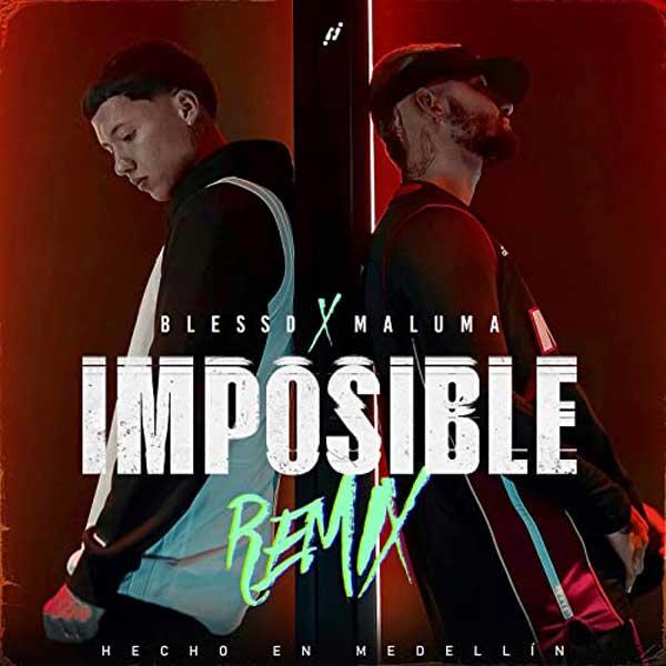 Imposible remix copertina brano