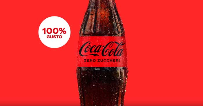 pubblicità coca cola zero zuccheri 2021